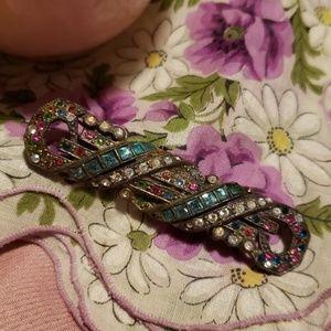 Antique potmetal brooch